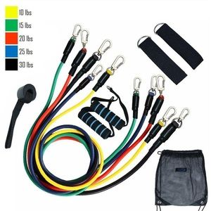NEW 11pc RESISTANCE BANDs HOME GYM FITNESS SET